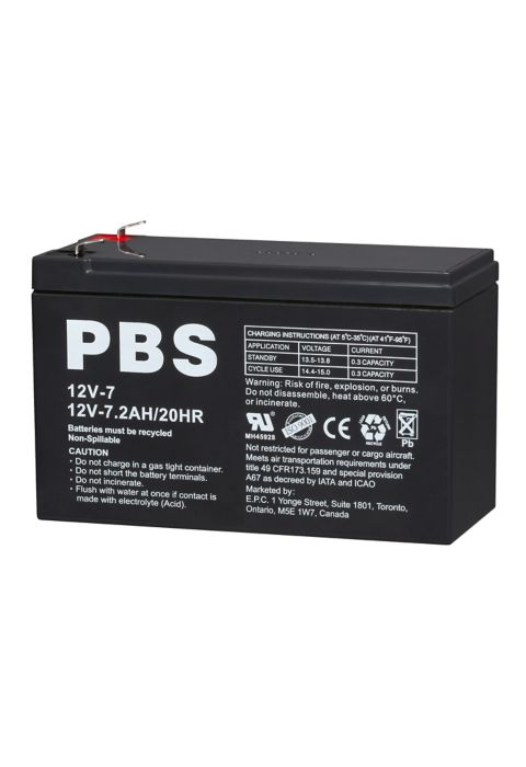 Pbs 12 Volt 7 2ah Agm Battery